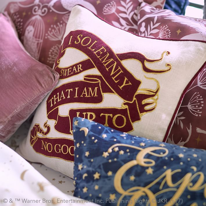 Harry potter marauder's map pillow cover