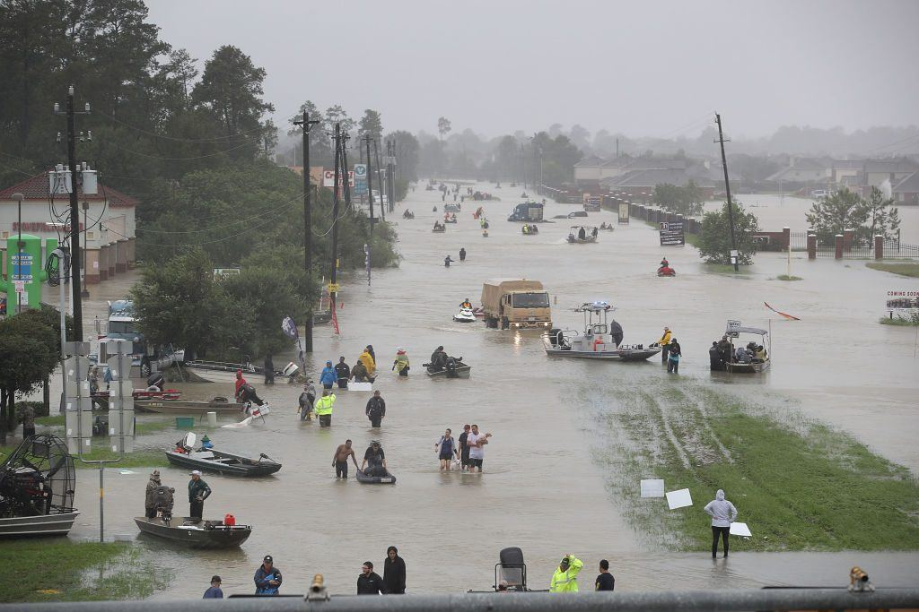 The aftermath of Hurricane Harvey on August 28, 2017 in Houston, Texas