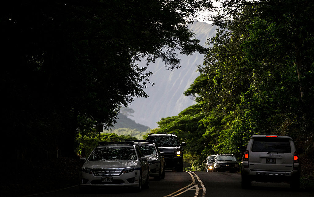 Hawaiian road traffic