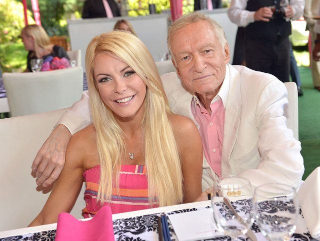 Crystal and Hugh Hefner in 2013.