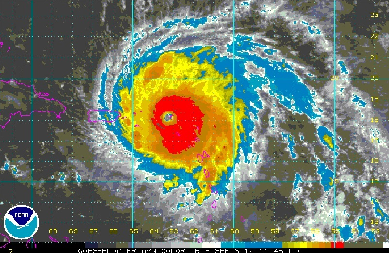 Hurricane Irma Satellite Image