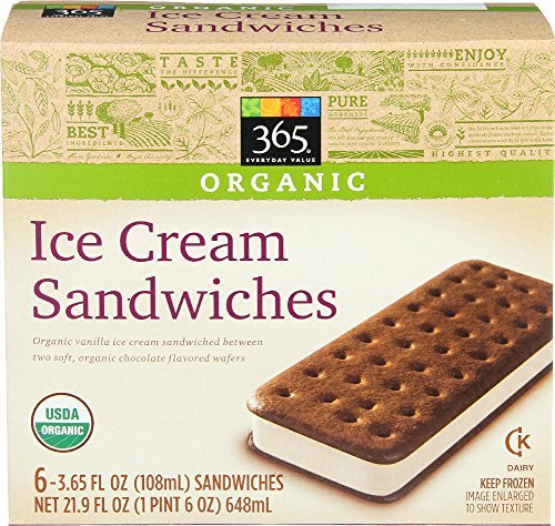 Organic ice cream sandwiches