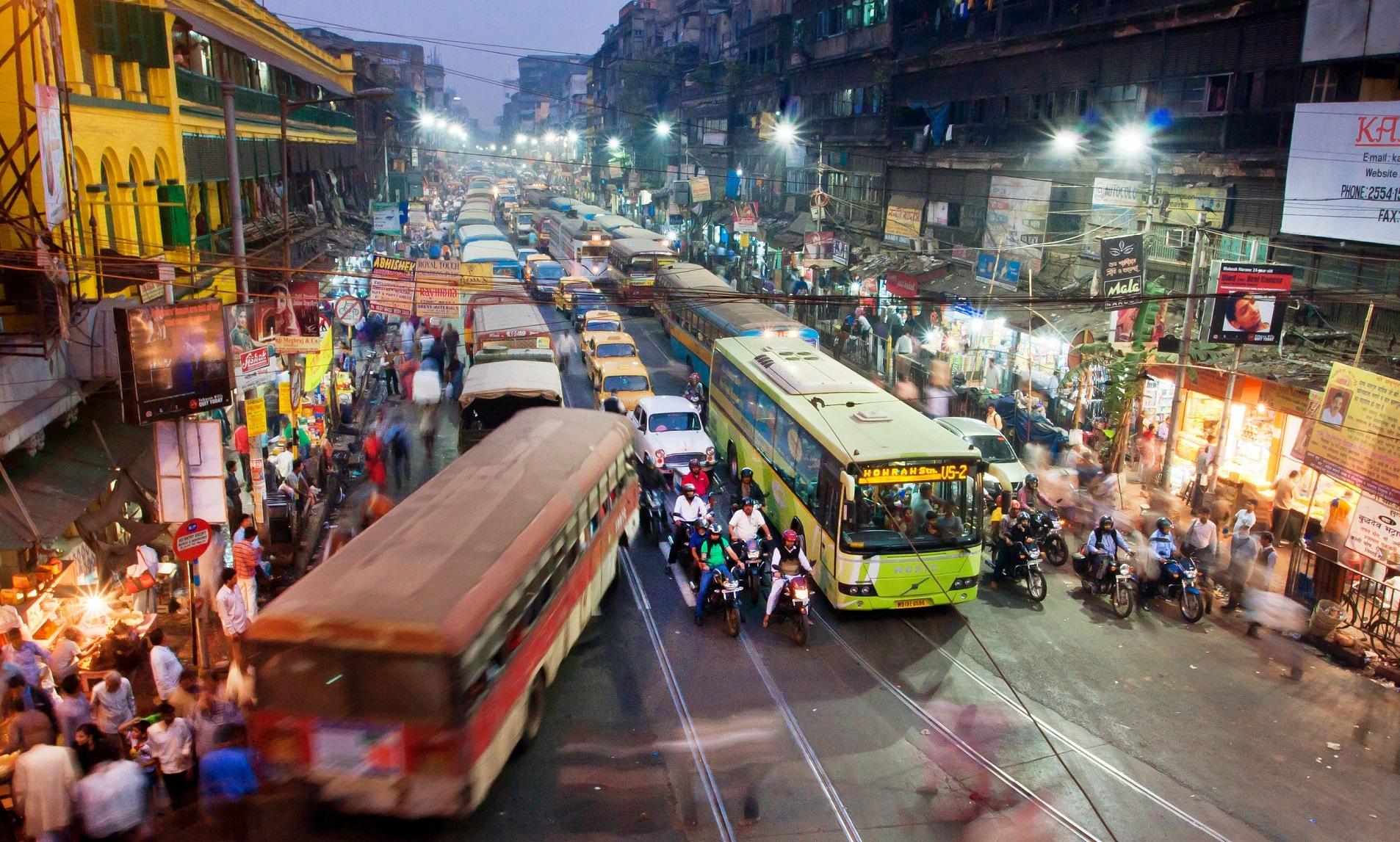 Kolkata, India, traffic