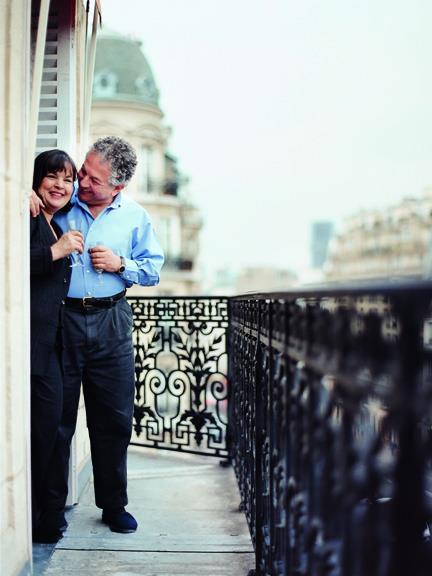 Jeffrey and Ina Garten on a Balcony