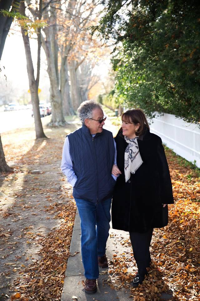 Ina Garten and Jeffrey walking