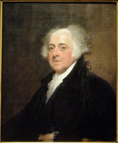 President John Adams in a painting.