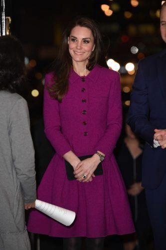 Kate Middleton with her hands together