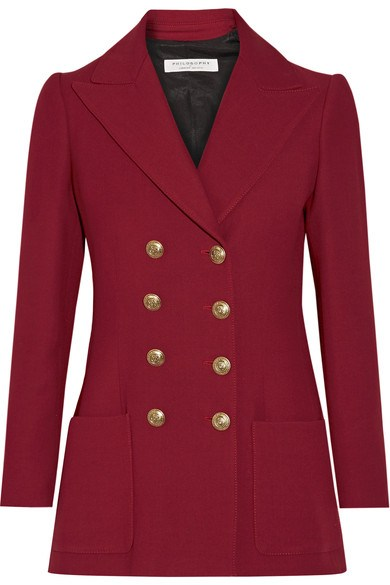 Red double breasted jacket Philosophy