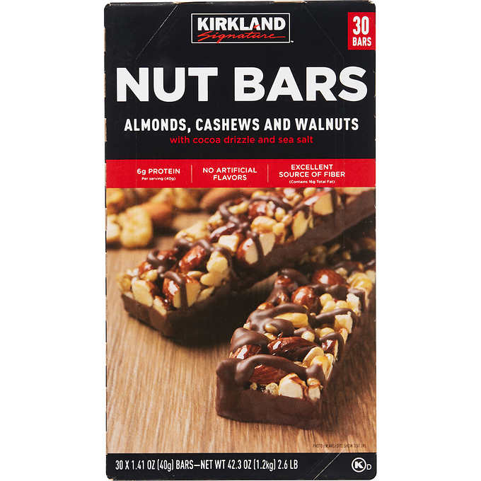 Kirkland's signature nut bars
