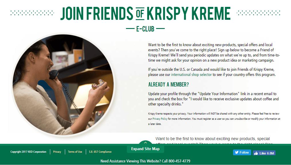 Krispy Kreme rewards