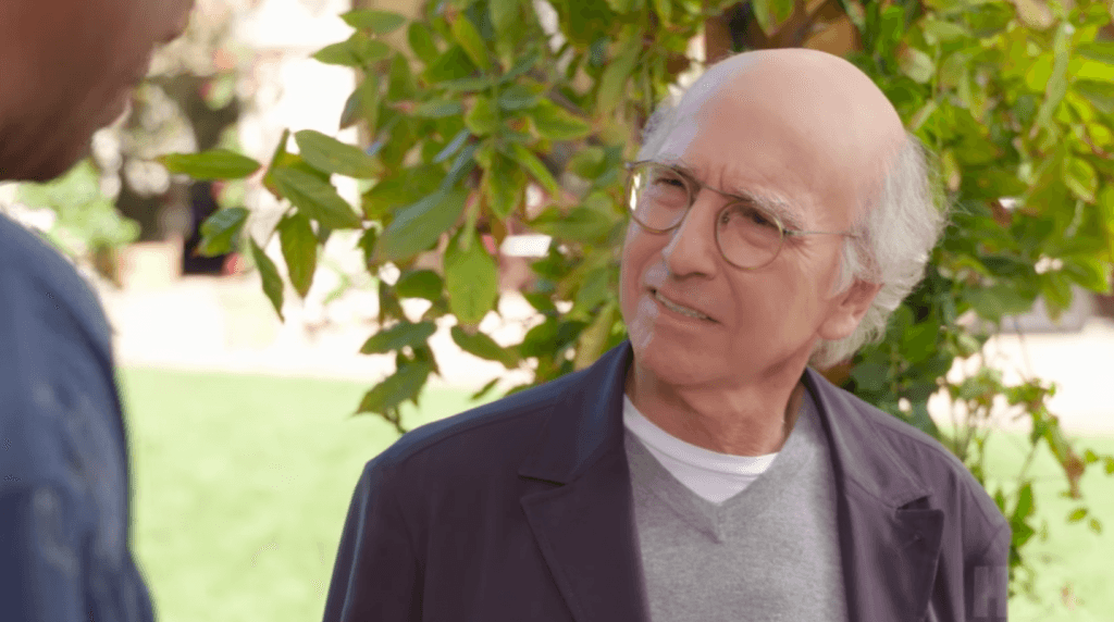 Larry David on Curb Your Enthusiasm.