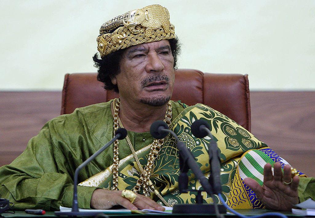 Moamer Kadhafi of Libya