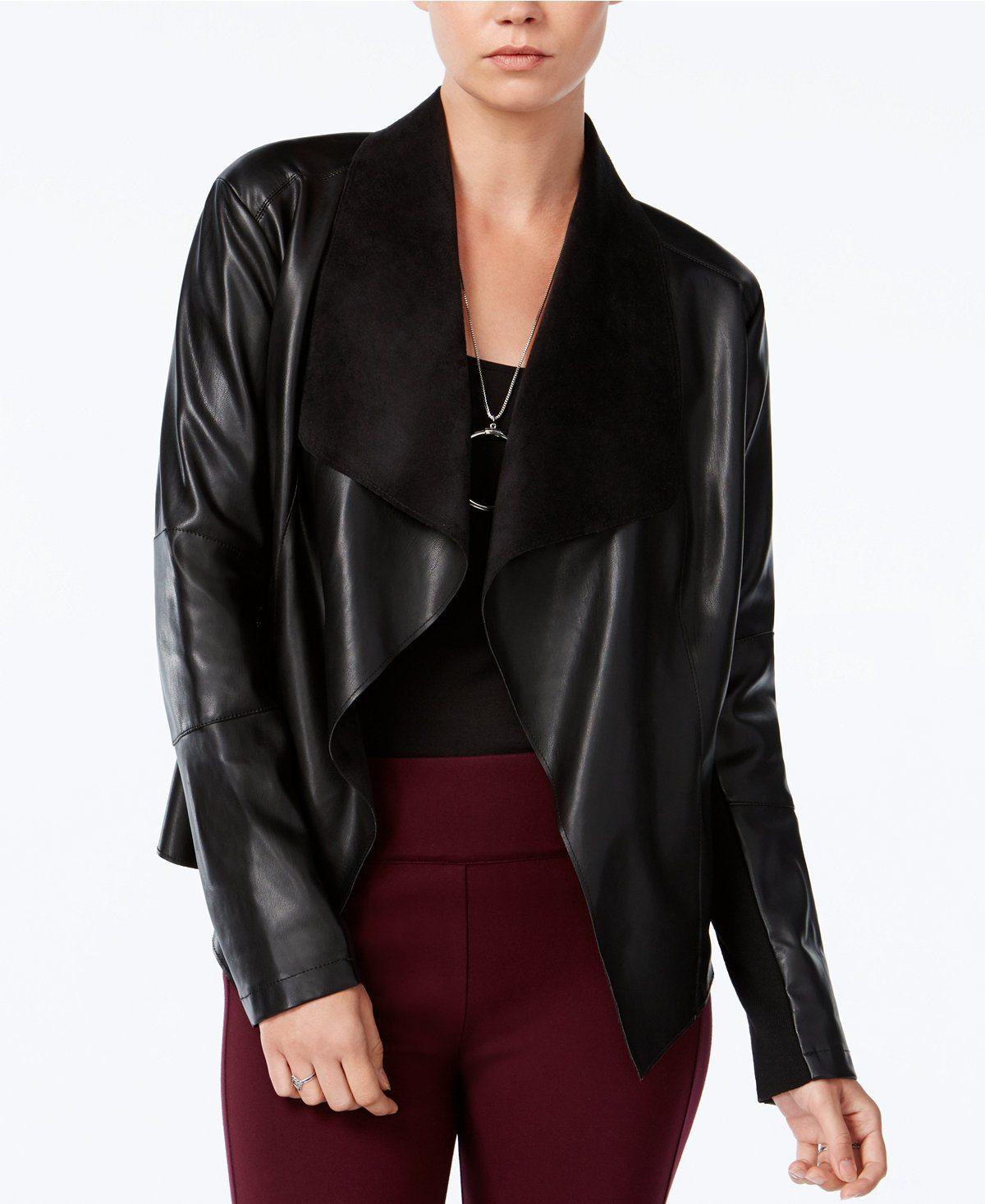 Macy's faux leather jacket