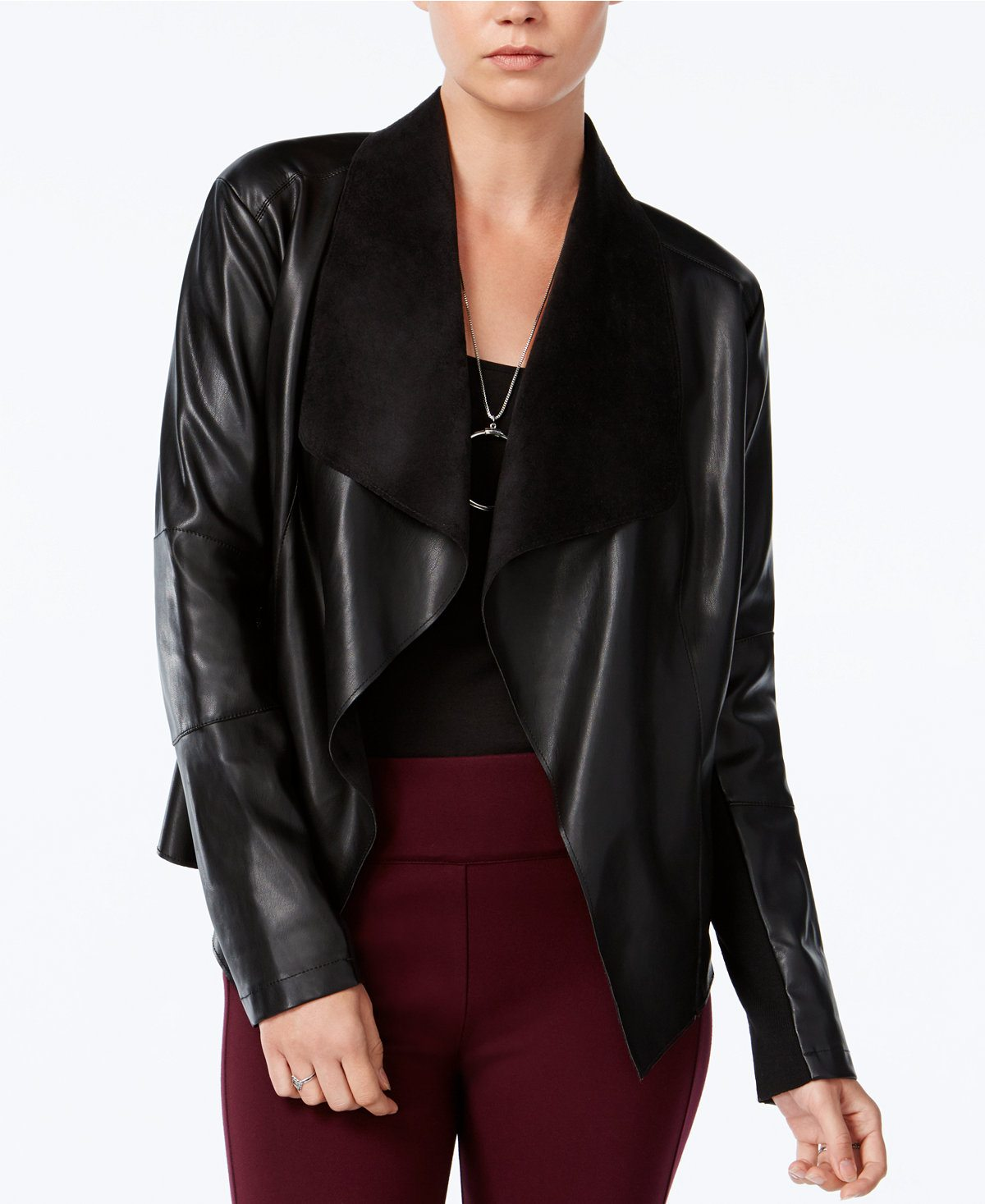 Macy's faux leather jacket