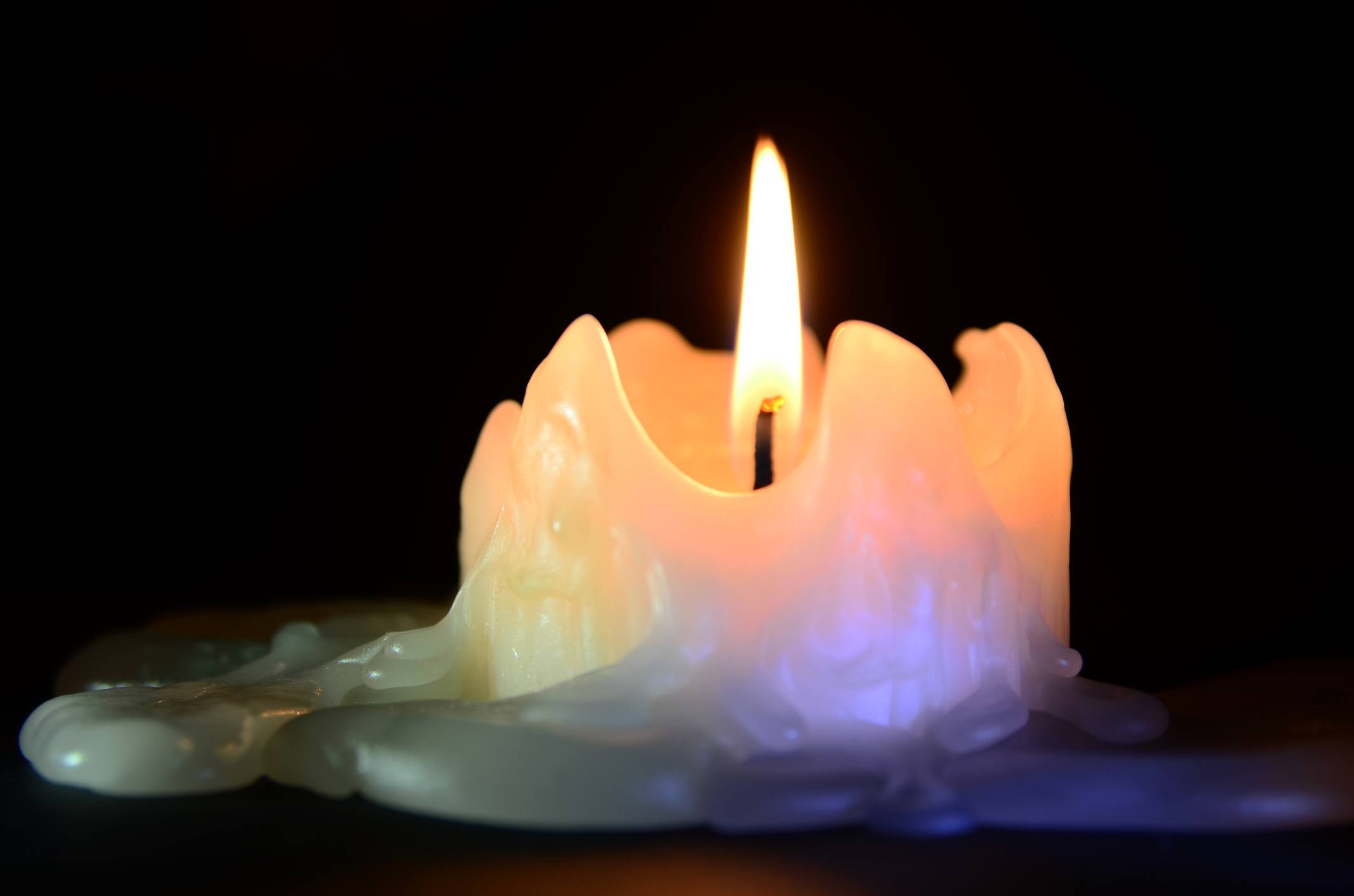 melted candle