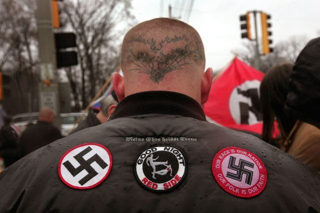 Nazi insignias on a jacket
