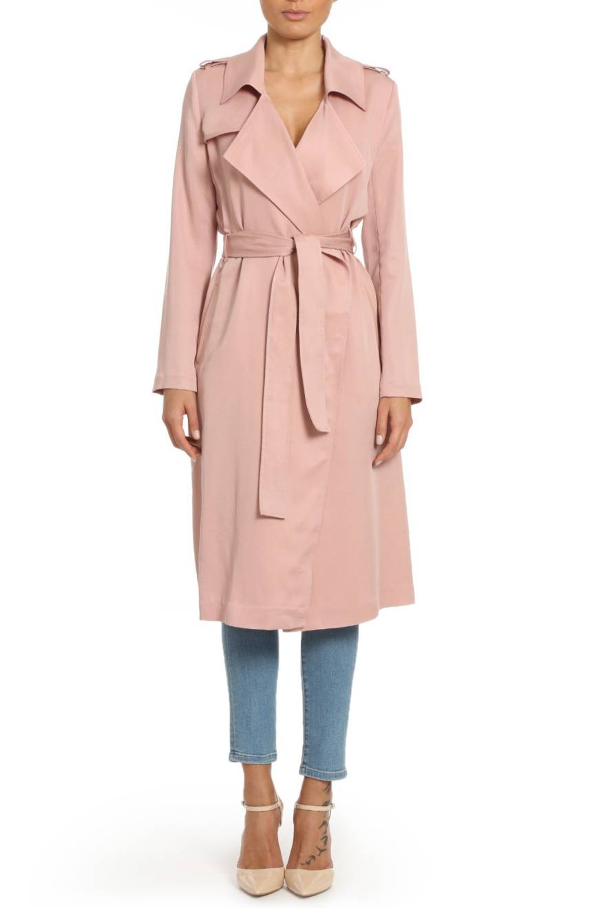 Nordstrom pink trench coat