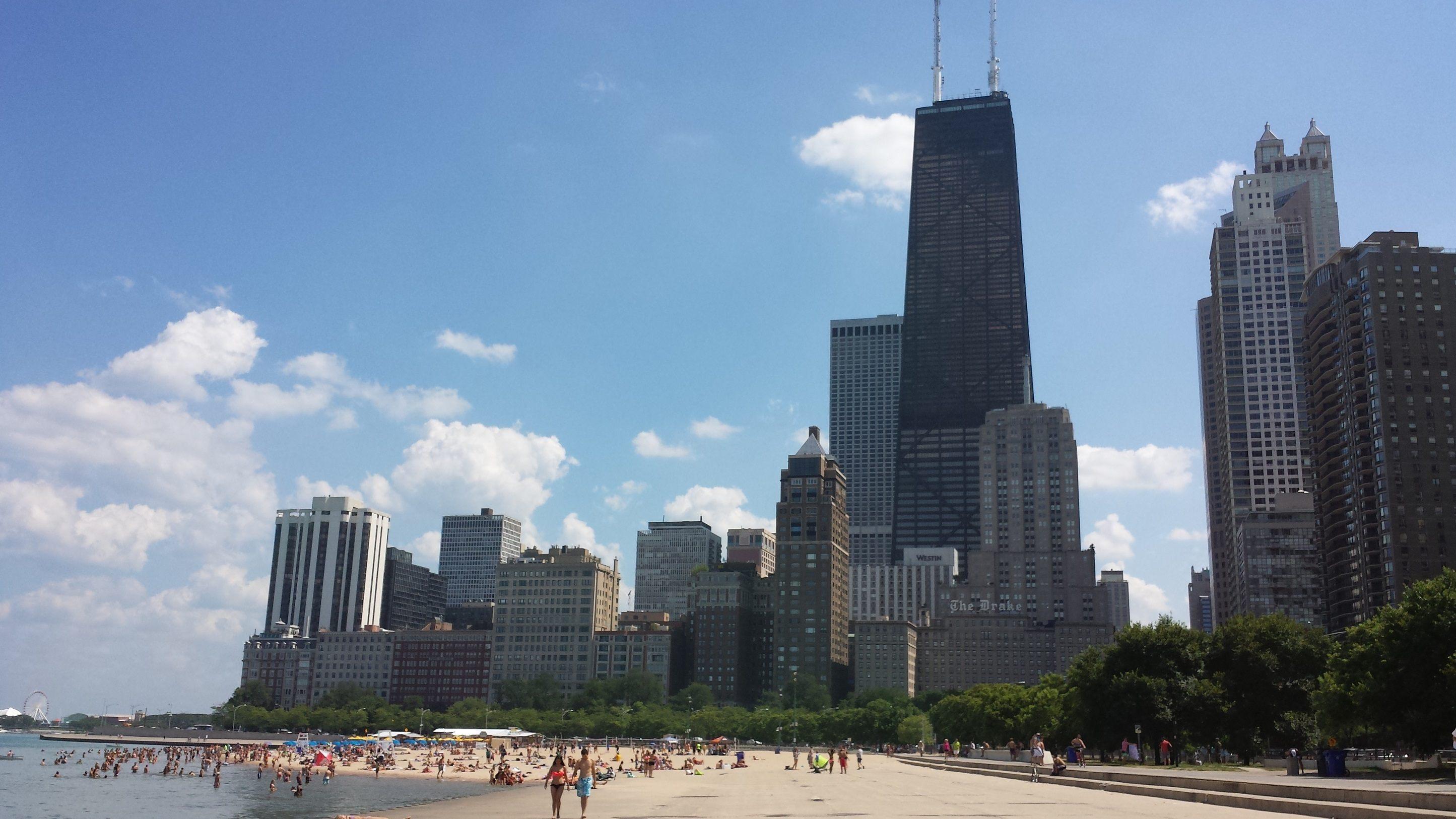 Oak Street Beach in Chicago