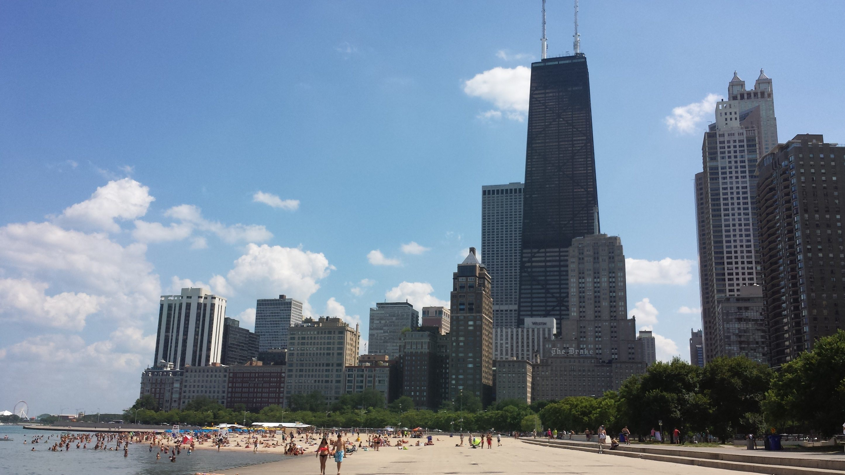 Oak Street Beach in Chicago