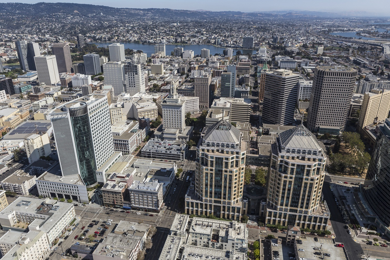 aerial view of Oakland, California