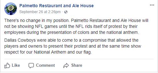 Palmetto Restaurant post