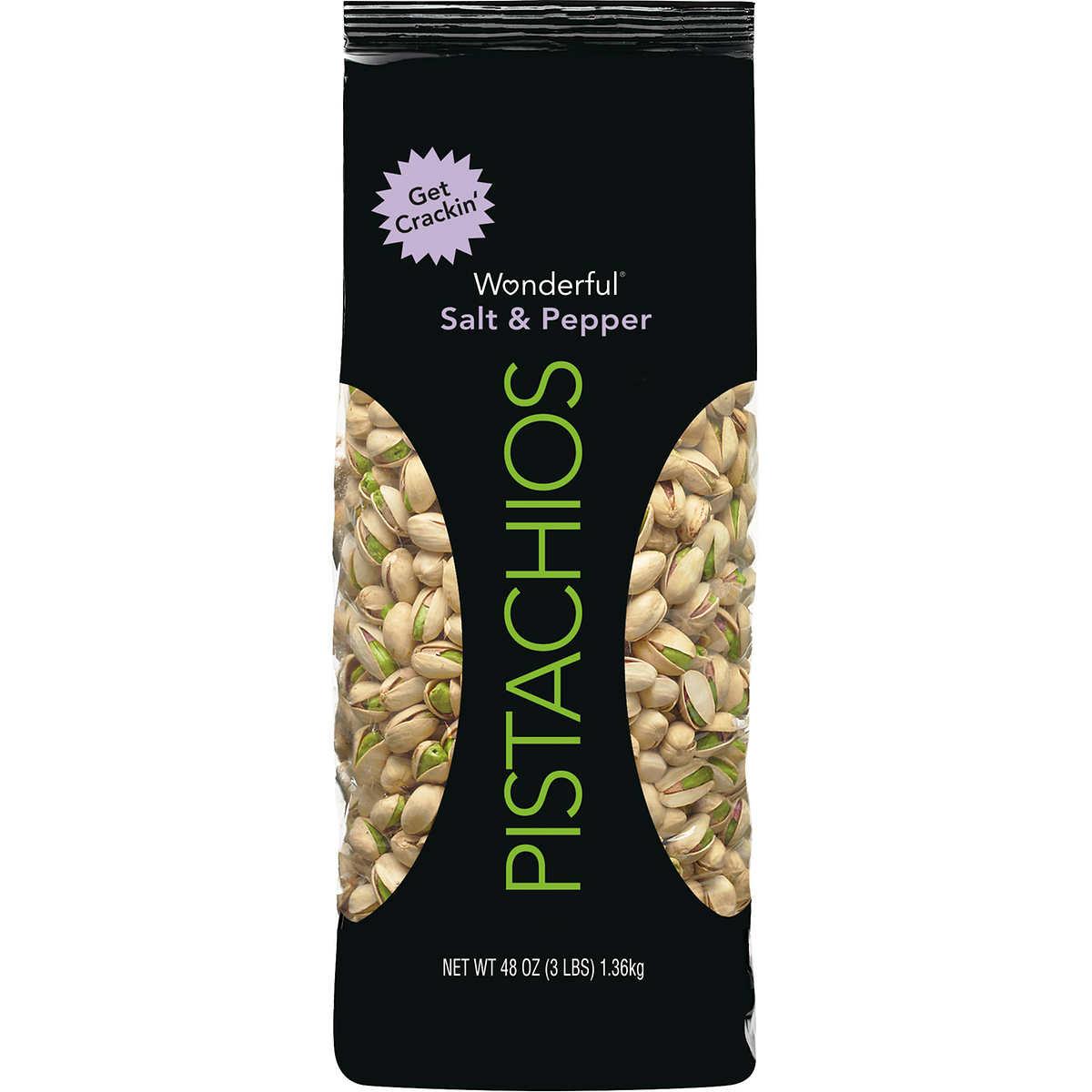Salt and pepper pistachios