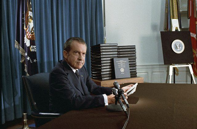 Richard Nixon during Watergate