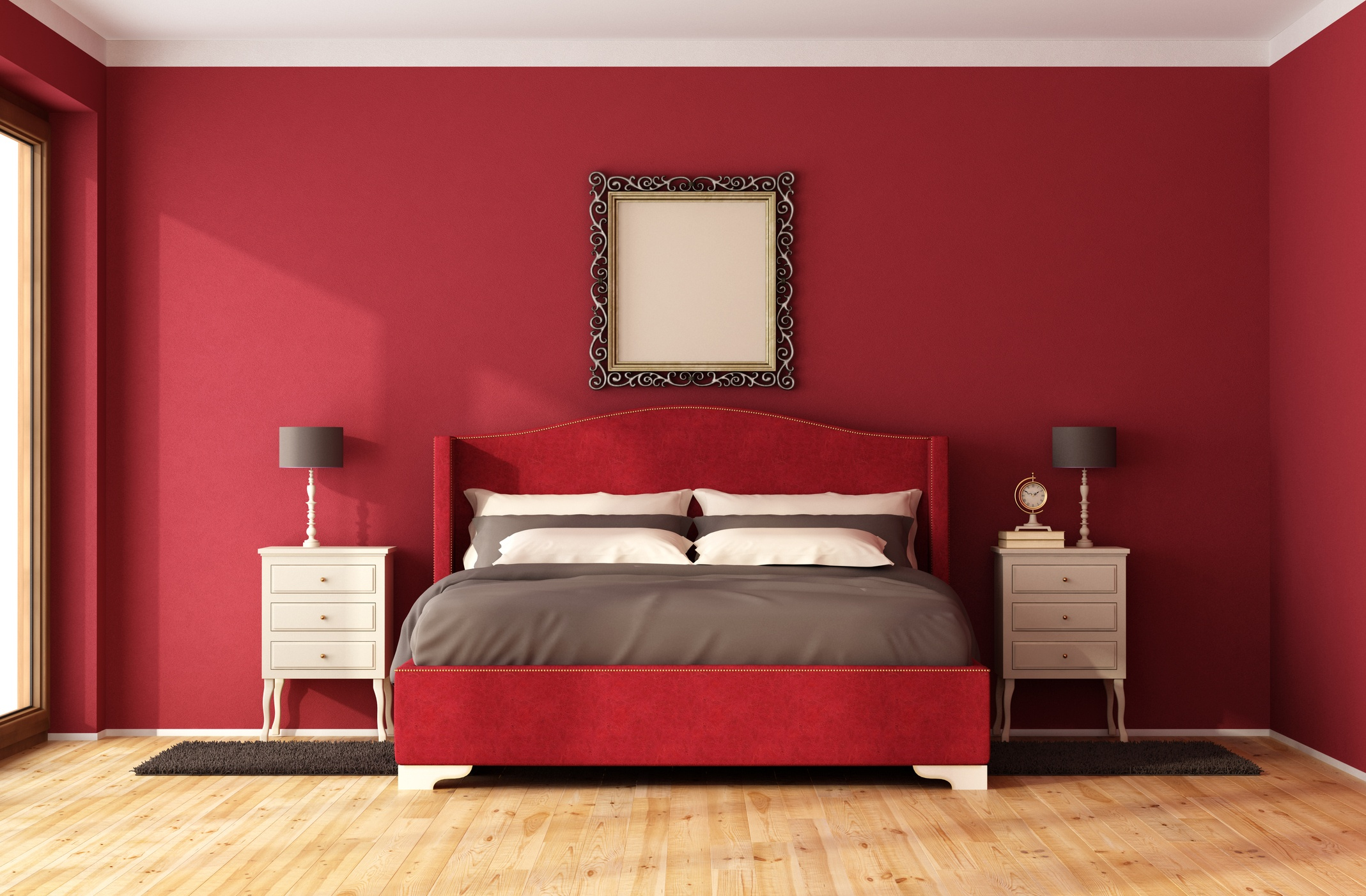 These are the worst paint colors you should never use in small spaces - Parete rossa camera da letto ...