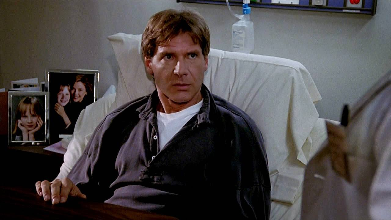 Harrison Ford sits in a hospital bed as Henry Turner in Regarding Henry