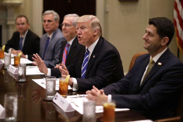Trump with majority leaders