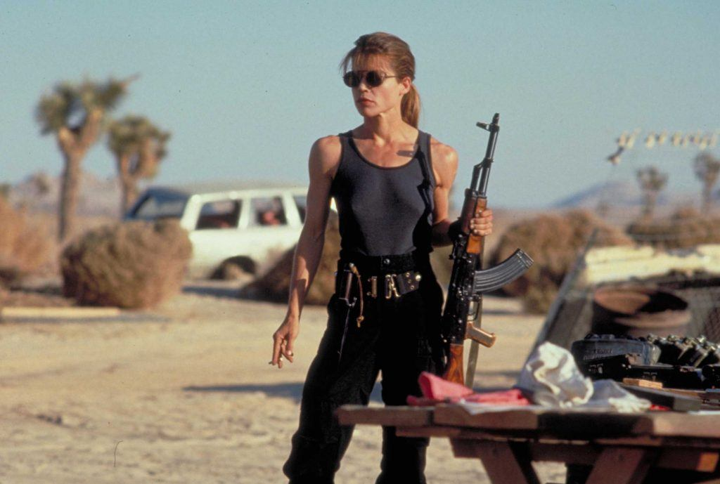 Sarah Connor in 'Terminator 2: Judgment Day.'