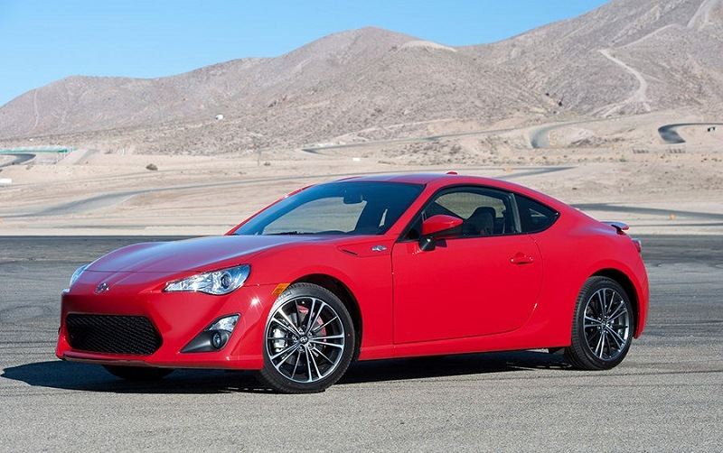 Red Scion FR-S from 2015 model year