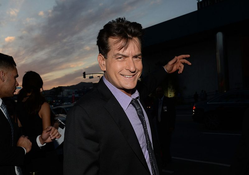Actor Charlie Sheen attends a movie premiere.