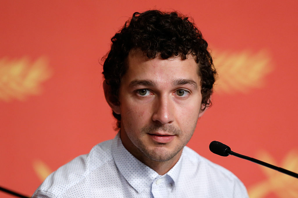 Shia LaBeouf responds to media question.