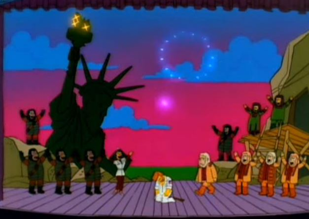 The Planet of the Apes musical parody on the Simpsons