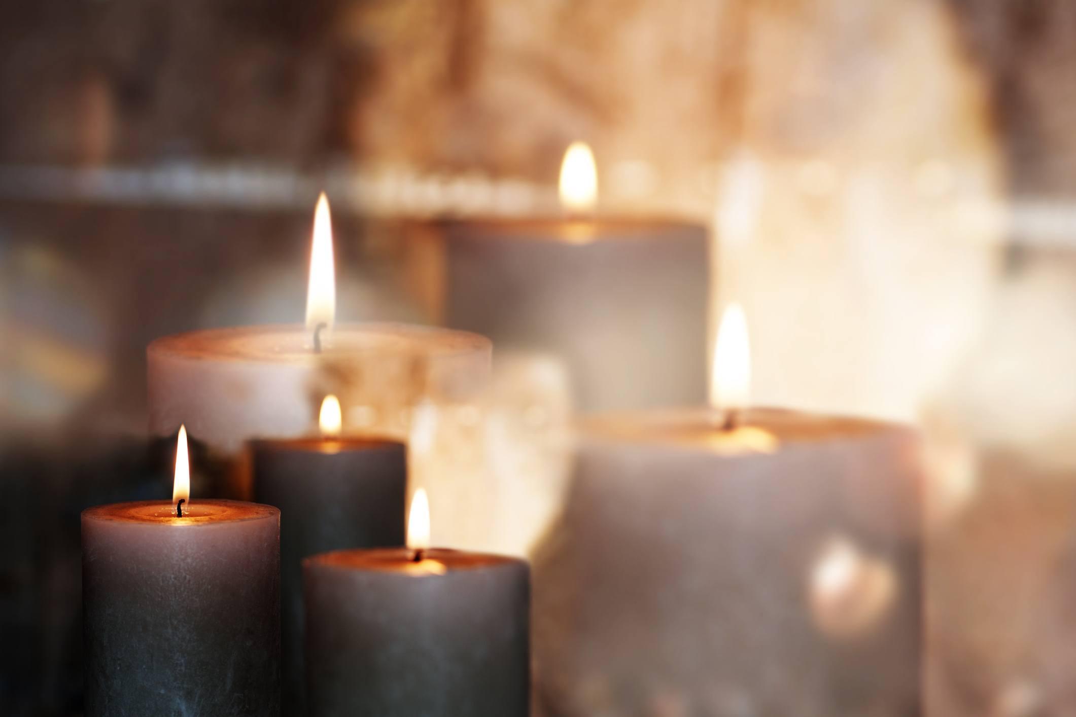 candles burning