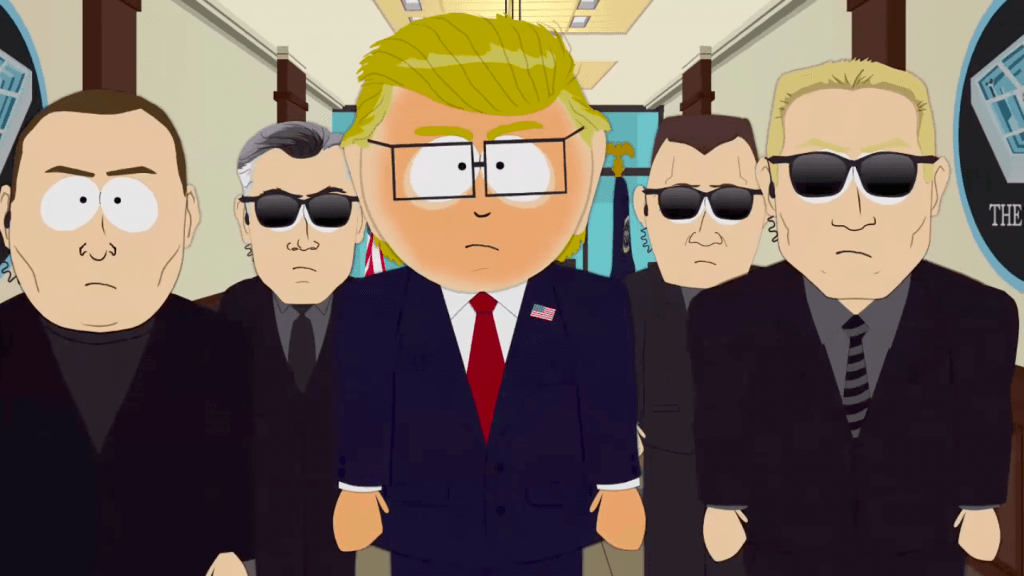 Mr. Garrison as the president of the United States on South Park.