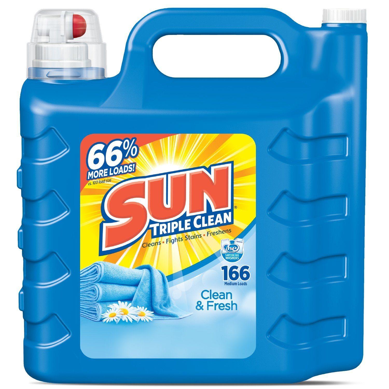 Sun triple clean detergent