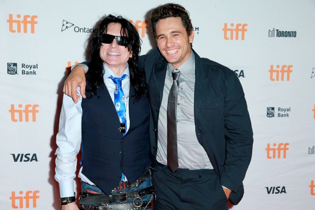 Tommy Wiseau and James Franco at the premiere of The Disaster Artist