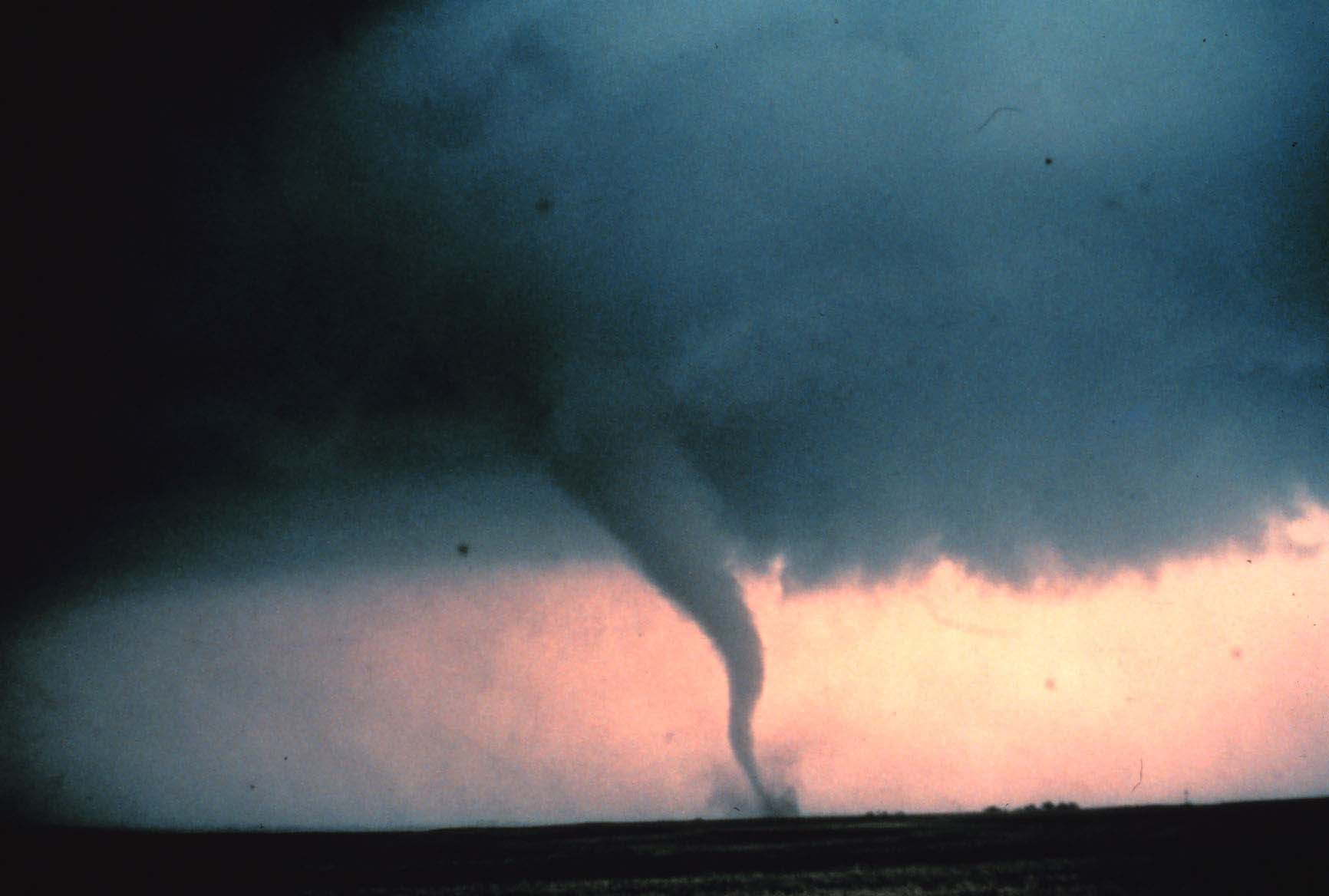 Tornado touching down in Oklahoma