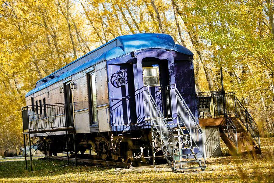Train car hotel