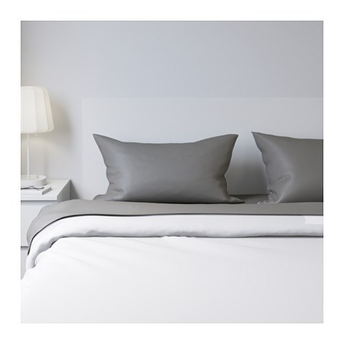Ikea sheet set gray