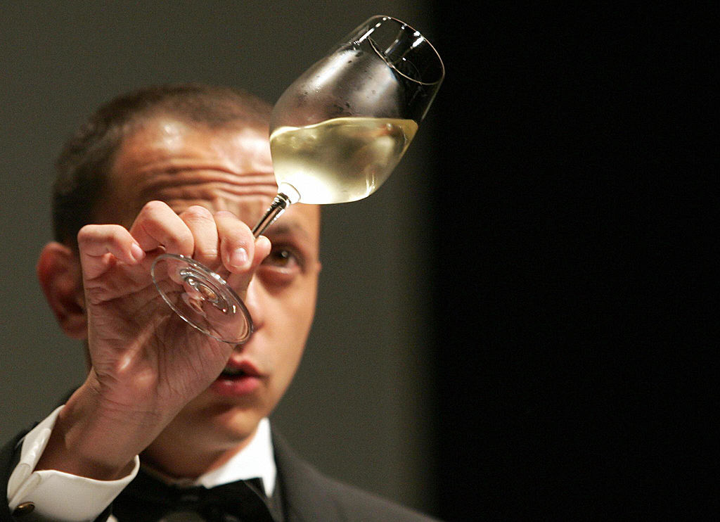 Sommelier at wine tasting competition