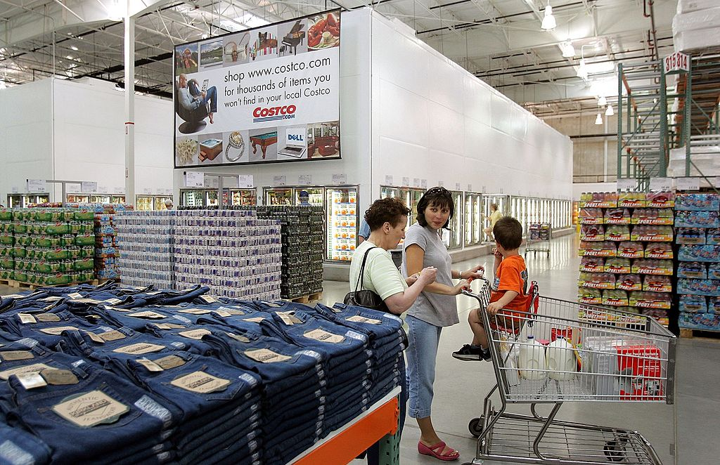 Woman shopping at Costco