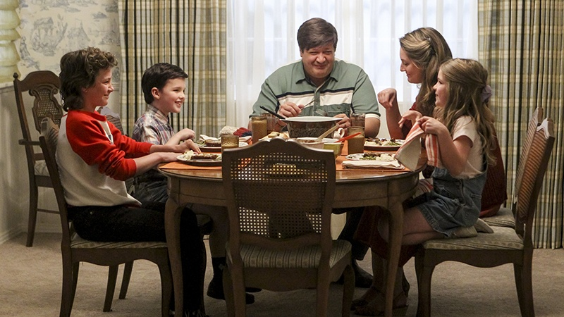 The cast of Young Sheldon in the pilot episode