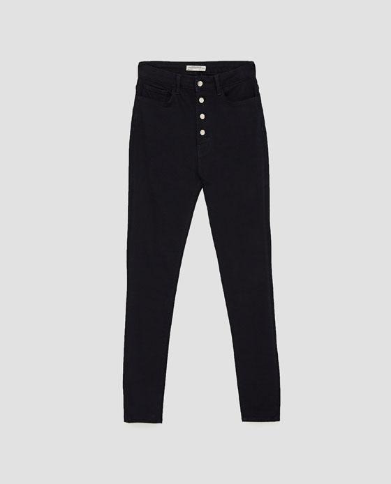 Zara highwaist button fly skinny