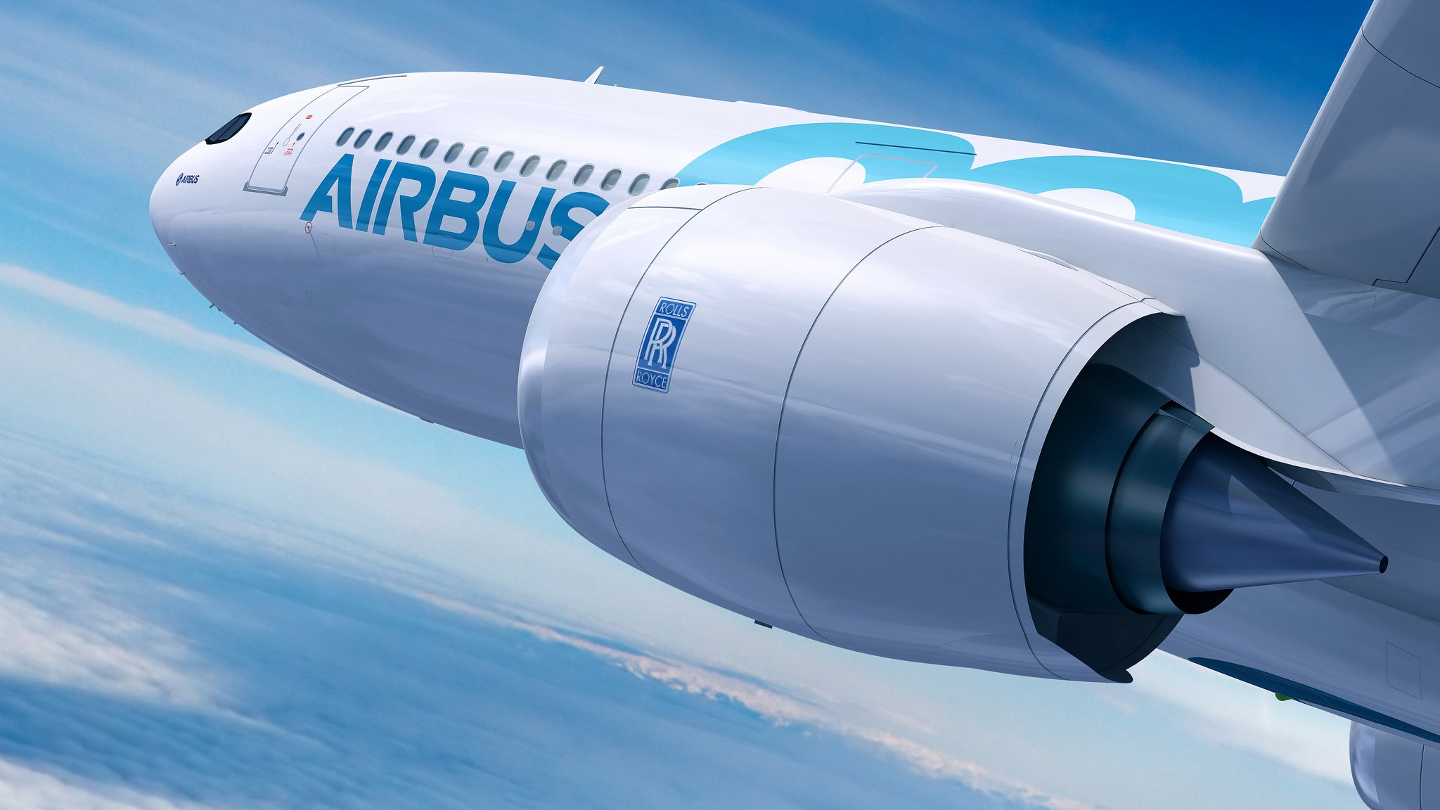 Airbus A330 with Rolls-Royce Trent 7000 engines