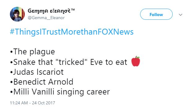A Tweet about Benedict Arnold