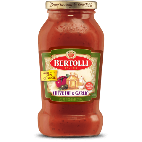 Bertolli olive oil and garlic sauce