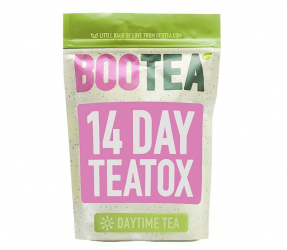 A pink and green Boo Teatox pack.